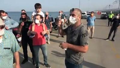 Samsun'da amatör olta balıkçıları eylem yaptılar