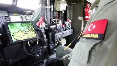 emniyet kemeri - Helikopterle havadan trafik denetimi yapıldı - İZMİR