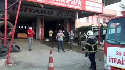 Gaziantep'te esnaftan itfaiyeye 'yangın ihbarı' ile tatlı sürprizi