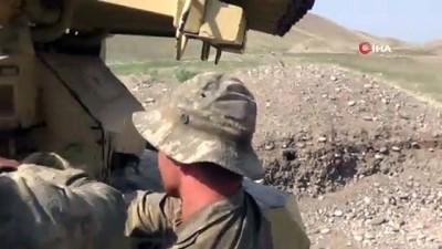 - Azerbaycan ordusu füze sistemiyle Ermeni mevzilerini vuruyor
