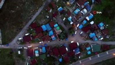 Jandarmadan hırsızlık şüphelilerine drone destekli operasyon: 4 gözaltı