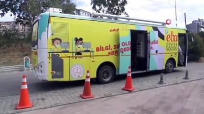 Tekirdağ'da Gezici Kütüphane EBA için yollarda