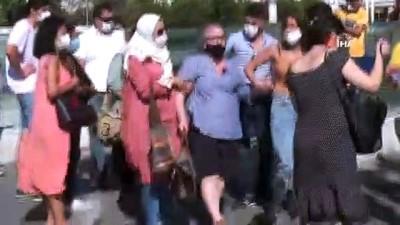 Taksim'de yaralı kadını aracına almayan taksici tepki topladı