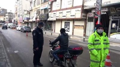 Sınır kenti Kilis'te 80 saatlik sokağa çıkma kısıtlamasına uyuluyor