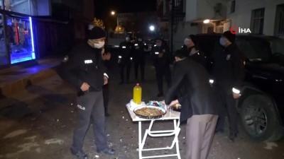 Aksaray'da polislere ikramlı moral sürprizi