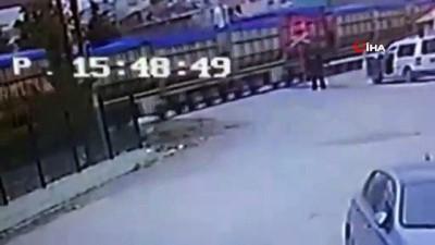 Amasya'da tren kazası kamerada