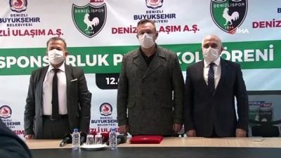 Büyükşehir Ulaşım AŞ'den, Denizlispor'a 3 milyon 750 bin TL'lik sponsorluk