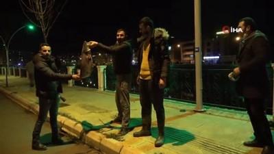Polis 'zehirli olabilir' diye uyardı, onlar fenerle aydınlatıp balık tuttu