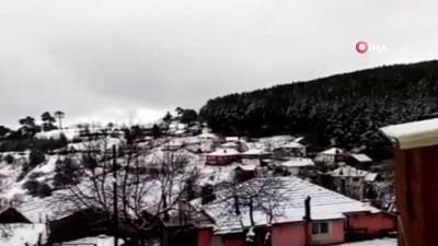 gesi -  - Balıkesir'de mevsimin ilk kar yağışı başladı