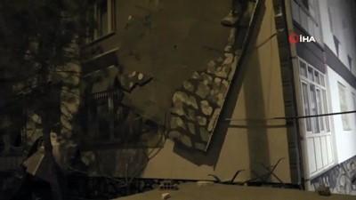 nadan -  - Fırtına apartmanın dış cephe kaplamasını söktü