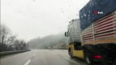 gesi -  Bursa'da beklenen kar yağışı başladı