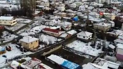 Çankırı'da beklenen kar yağışı başladı