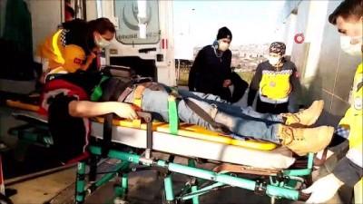- Buzda kayan otomobil evin bahçesine uçtu: 2 yaralı