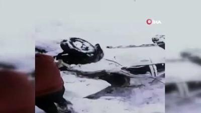 Kazada yaralanan 2 kişiyi köylüler donmaktan kurtardı