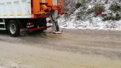 - Kentin yüksek kesimlerinde kar yağışı etkili oluyor