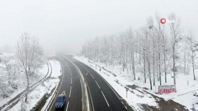 Bolu Dağı'nda mest eden kar manzarası