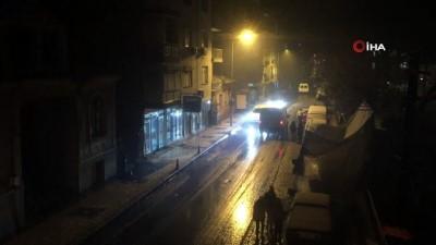 Kar yağdı sokağa çıkma kısıtlamasını unuttular