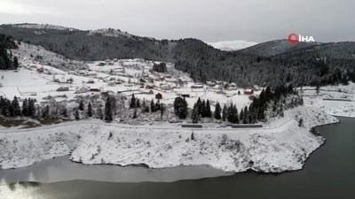 Karadeniz yaylalarında mest eden kar manzaraları