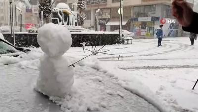 Soma'ya 3 yıl sonra kar yağdı