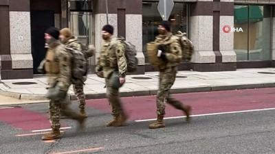 yemin toreni -  - ABD'de başkent Washington D.C'de Ulusal Muhafızlar sokaklarda görev yapıyor