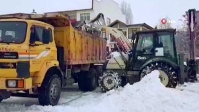 Aşkale'de karla mücadele çalışmaları
