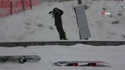 - Kartalkaya'da kar kalınlığı 1 metreyi geçti
