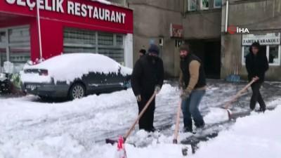 Sarıkamış'ta kış mesaisi başladı