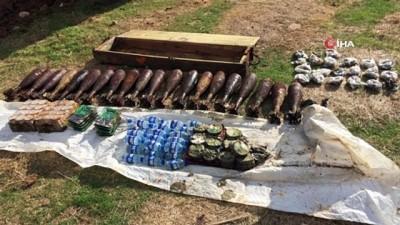 Suriye'de terör örgütüne büyük darbe... Çok sayıda patlayıcı ele geçirildi