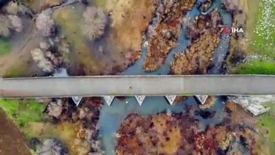 'Bütün yollar Roma'ya çıkıyor'.... 2 bin yıllık Roma yolu ve köprüsü  görüntülendi