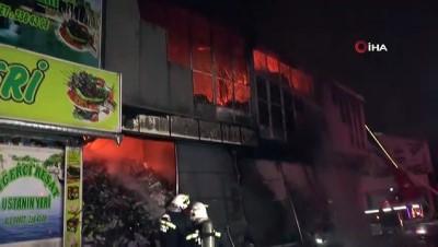 Gaziantep' Gıda Toptancıları Sitesi'nde yangın