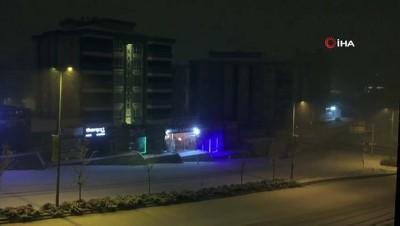 Gaziantep'te beklenen kar yağışı başladı