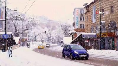 pazar gunu -  Sessiz ve karlı Bursa'dan muhteşem manzaralar
