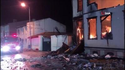 Tarihi Müftülük binası alev alev yandı