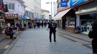 Ayvalık'ta çarşı ve mahalle bekçilerinden megafonla Covid19 uyarısı