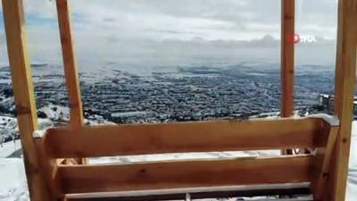 Bin 200 rakımlı Harput'ta kar güzelliği