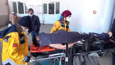 Elektrik akımına kapılan inşaat işçisi yaralandı