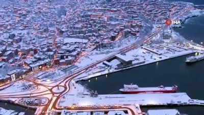 - Kar manzaralı Zonguldak havadan görüntülendi