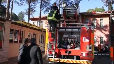 Kula Devlet Hastanesi'nde yangın tatbikatı