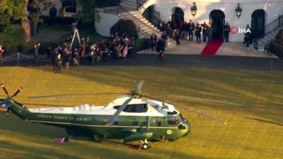 yemin toreni -  - Trump, Beyaz Saray'a veda etti
