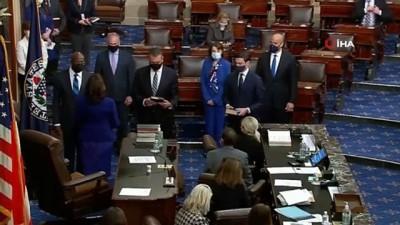 - ABD Başkan Yardımcısı Kamala Harris Senatoda yemin ederek göreve başladı - Senato'da çoğunluk demokratlara geçti