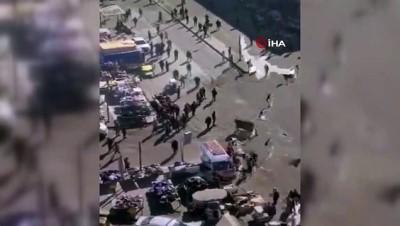 halk pazari -  - Bağdat'taki saldırı anı kamerada