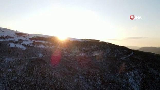 balaban -   Çanakkale'de hayran bırakan kar manzarası