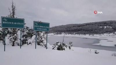 Hava sıcaklıkları düştü, göletler dondu
