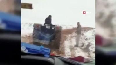 Kurtarma ekipleri de yolda kaldı