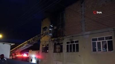 Geri dönüşüm fabrikasında korkutan yangın çıktı