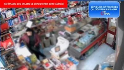 Marketten bebek bezi çalan hırsızlık zanlısı kamerada