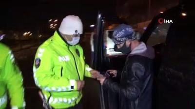 Araç sürücüsü 'Biraz oyalandık' dedi, cezadan kurtulamadı