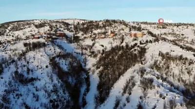 Zonguldak ormanlarında kış manzaraları