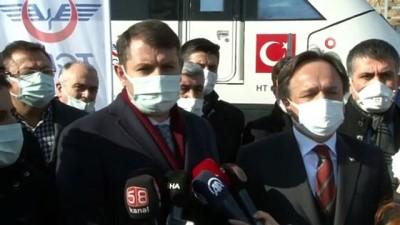 Ankara'dan hareket eden Yüksek Hızlı Tren Sivas'a ulaştı