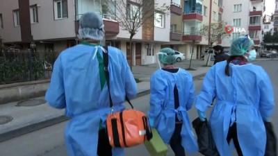 Asırlık çınarlara evde korona virüs aşısı vuruldu